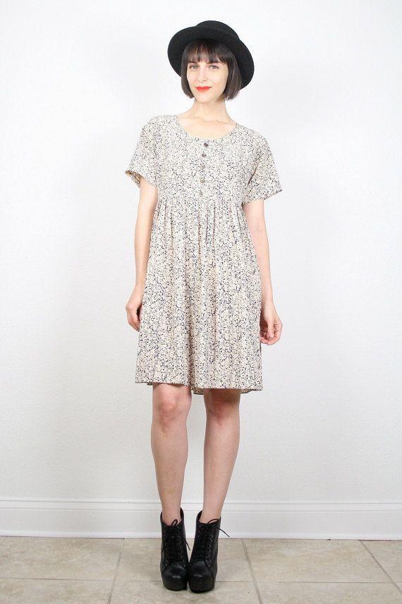 Vintage Grunge Dress Babydoll Dress Mini by ShopTwitchVintage