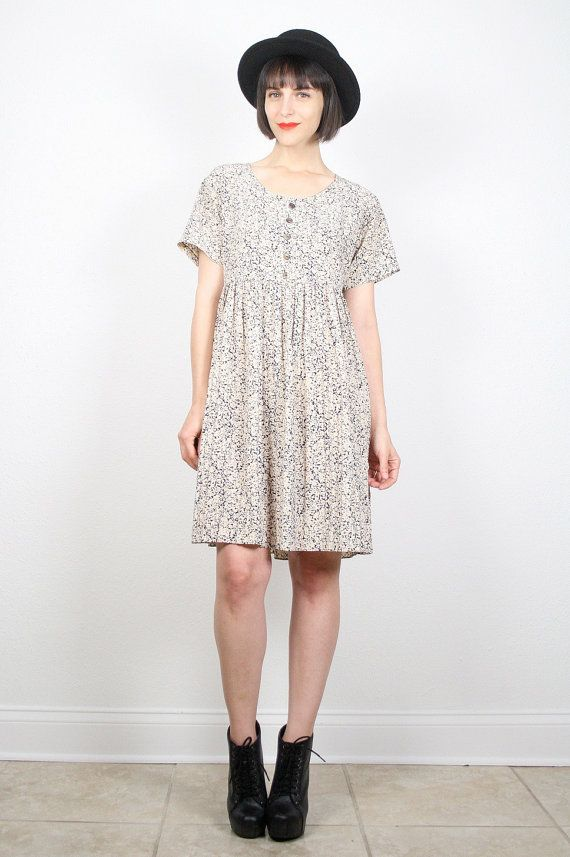 Vintage Grunge Dress Babydoll Dress Mini by ShopTwitchVintage