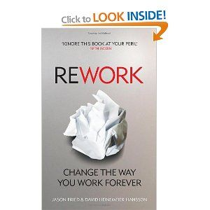 REWORK is a 'Swiss Army Knife' of work practice. It debunks some work practices that almost seem set in stone.     The authors who have built 'Basecamp' tell you why 'ASAP' is poison, how some meetings can ruin productivity and why you shouldn't get too hung-up on planning.     It's given me some useful approaches to projects, and I'm sure it will give you some! The chapters are bite size chunks so you could easily read it during your downtime.