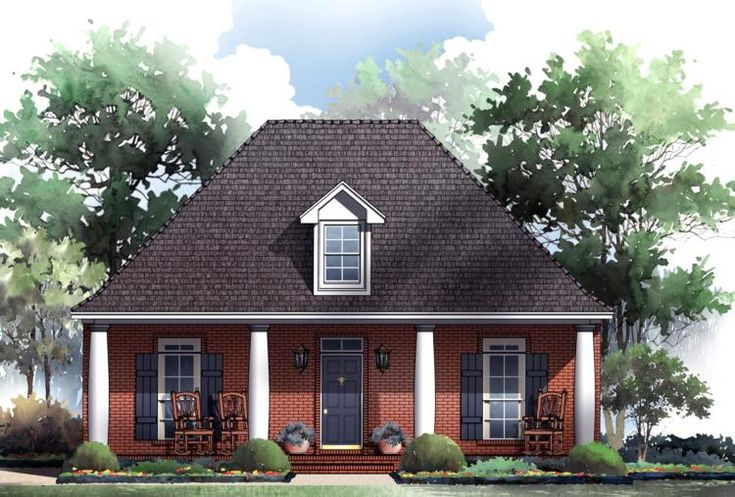 House Plan 34800041 This modern Colonial house plan is