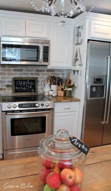Kitchen Backsplash Brick Look best 20+ faux brick backsplash ideas on pinterest | white brick