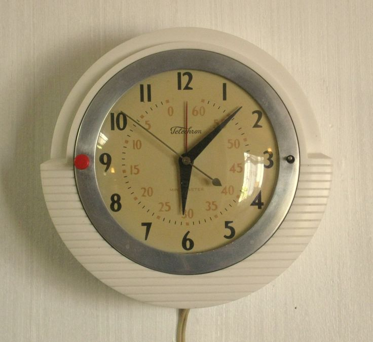 Vintage Telechron Minitmaster Model 2H17 Electric Wall