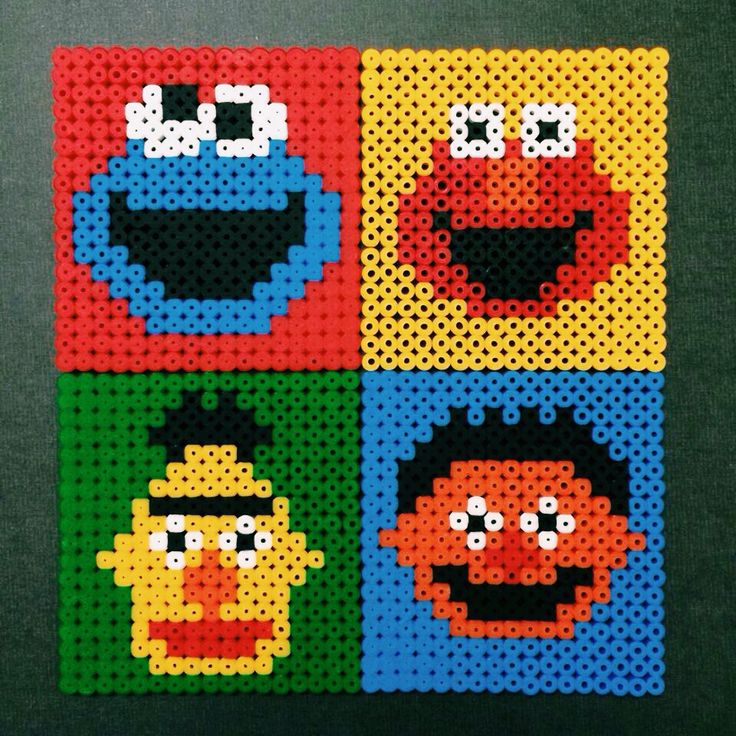 Sesame Street Coasters! Decided to make these for the Taiwan friends here. (^_^)☆