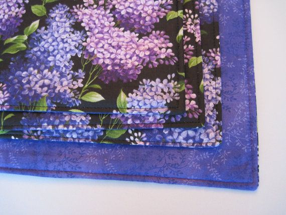 Purple Lilac Placemats Reversible Rectangle by tracystreasuresri