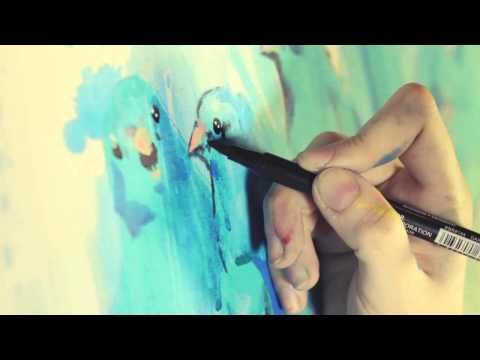 PUNK BIRDS by LORA ZOMBIE. PROCESS VIDEO. - YouTube