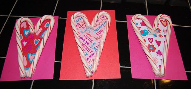Quick DIY Valentines Card Use Scrapbook Paper Candy