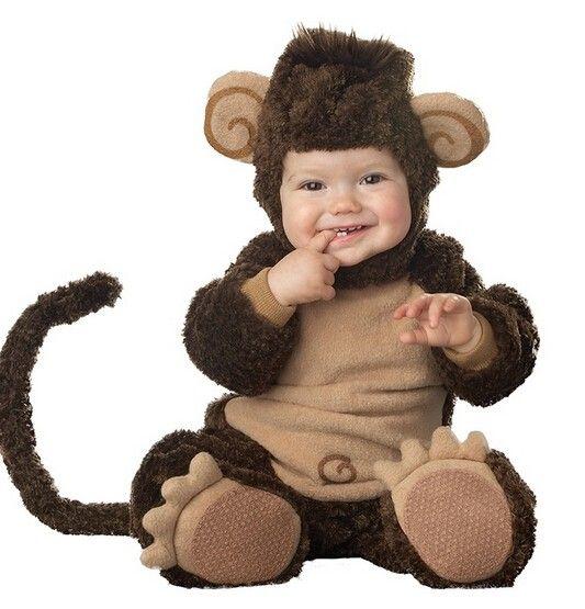 New Arrival bute monkey  Baby Costume Cute Infant Cartoon Cosplay Jumpsuit Fantasia Halloween Fancy Dress