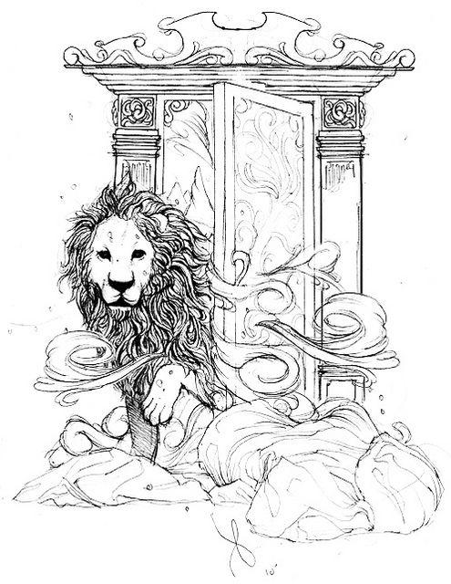 Narnia wardrobe sketch by kevinblasius, via Flickr