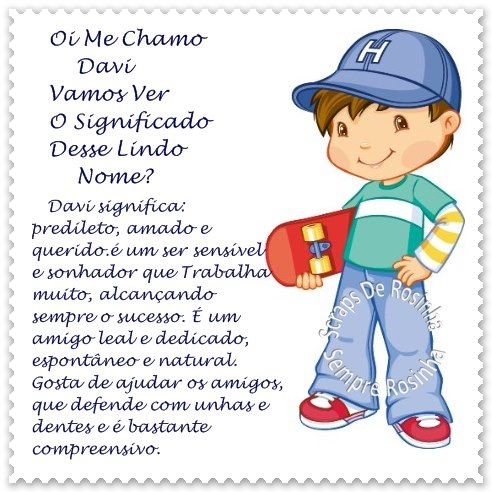 Significado do nome!