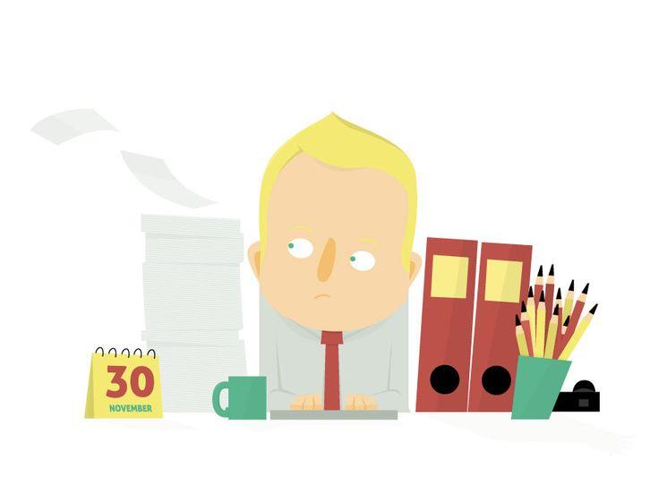 Editorial Illustration 'Effizienz am Schreibtisch' //  inspirmation Newsletter von ELISABETH DEIM