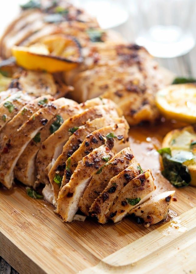 Spicy Basil Lemon Chicken (sub fried sage?)