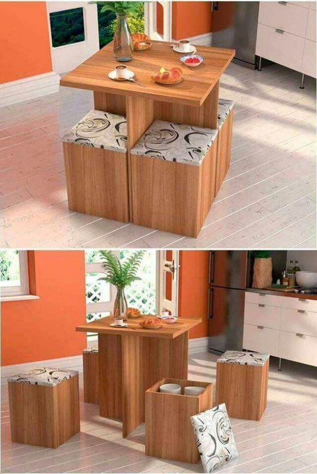 Dining Table Space Saving In 2018 Space Saving Furniture Small Bedroom How To Store Shoes With No Cl In 2020 Butorotletek Lakberendezesi Otletek Dekoracio Otthon
