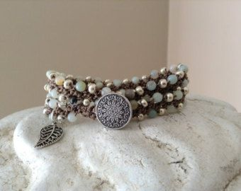 SUNDANCE Boho Chic Leather and Turquoise Memory by WrapsodyStudio