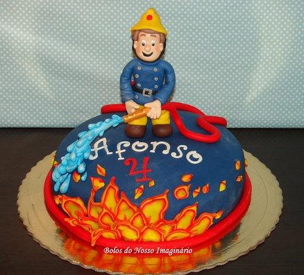Fireman Sam Cake  Cake by BolosdoNossoImaginário