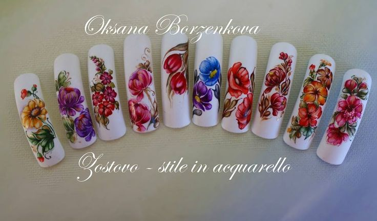 Zhostovo Nail Art Tutorial 96