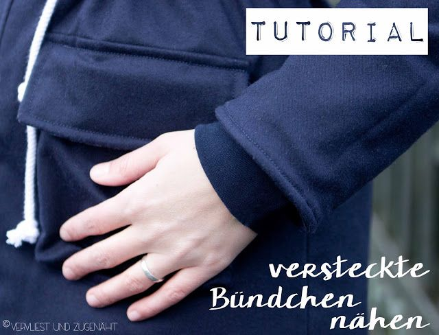 Versteckte Armbündchen in Jackenärmeln {Tutorial} sew hidden cuffs in your jacket or coat!