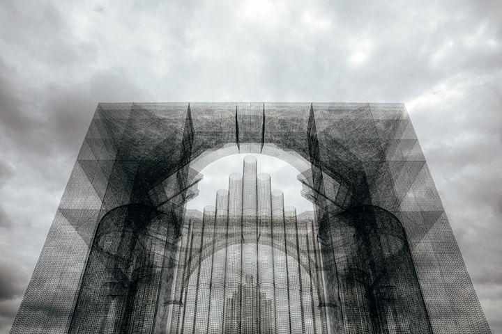 Wire-mesh pipe organ by Edoardo Tresoldi, Eau Clair – Wisconsin » Retail Design Blog