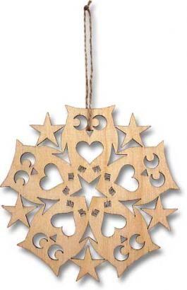 Circle of Owls Laser-cut Wooden Ornament