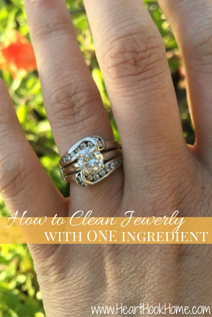 How To Clean Jewelry At Home  Using Just One Or Two Household Items! Http