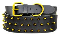 "$73.95 - Not your average, spike, dog collar!  #Big #dogs can be fashion-forward too with these fabulous, #colorful spike, #pet #collars made of  Genuine Latigo #Leather and powder-coated #spikes.  Available in #BLACK, #PINK, #GOLD, #TEAL, #RED, #PURPLE, #CORONA #LIME, BLUE, #RASPBERRY and #WHITE.  One size only.   *Fits pets with neck sizes of 24""-28"".  *Made in the #USA!   #pets #cute #fashion #shop #onineboutique #retail #largebreed"