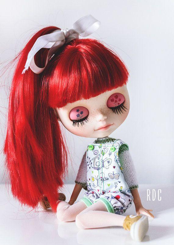 Kvetoucí kombinézy a svetr pro Blythe Doll roperoconmishi