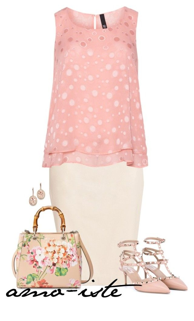 Polka Dot Pink - Plus Size by amo-iste on Polyvore featuring polyvore fashion style Manon Baptiste Lord & Taylor Valentino Gucci Kevin Jewelers clothing