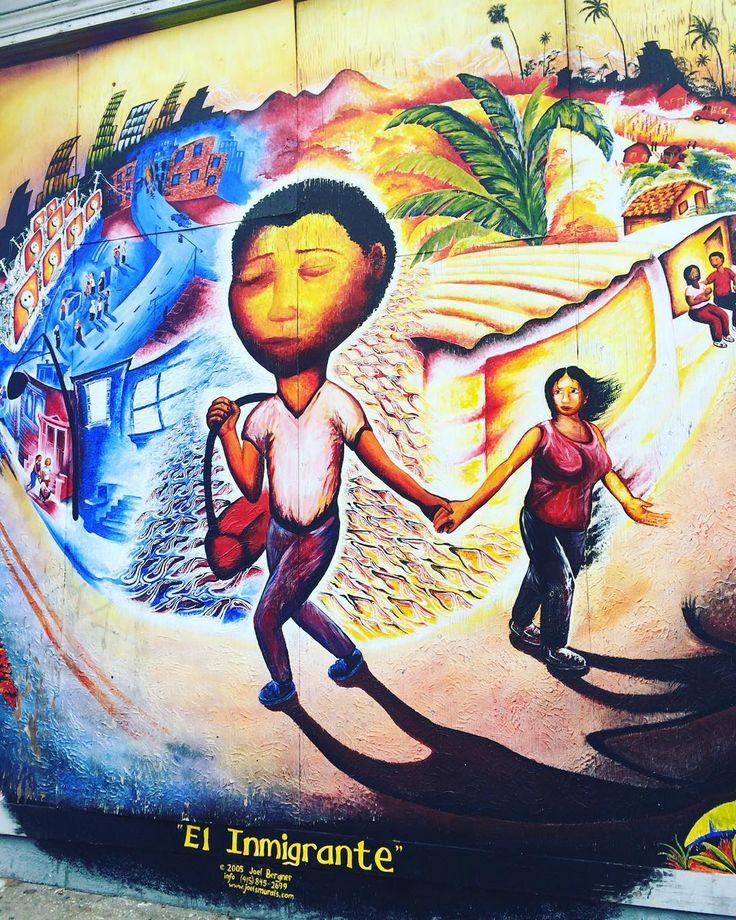 El inmigrante #SF #sanfrancsico #eyespysf #hiddensf #streetart #streetsofsf #graffiti #sfgraffiti #sfstreetart #mysanfrancisco #alwayssf #nowrongwaysf #ilovesf #iheartsf