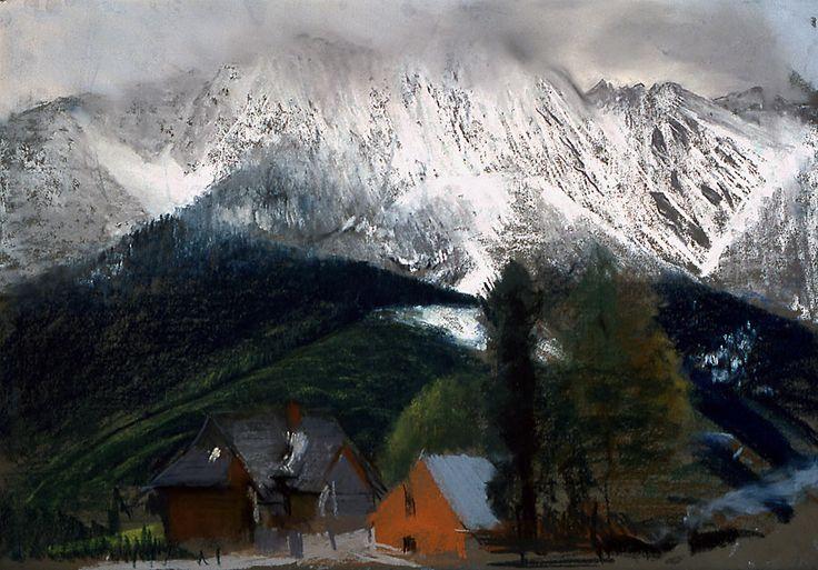 Leon Wyczółkowski - Giewont w śniegu