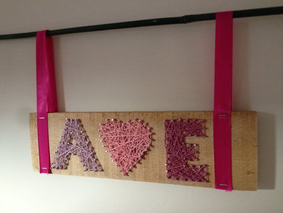 Wedding hanging/gift. X hearts X in embroidery thread by Natstuff, £20.00