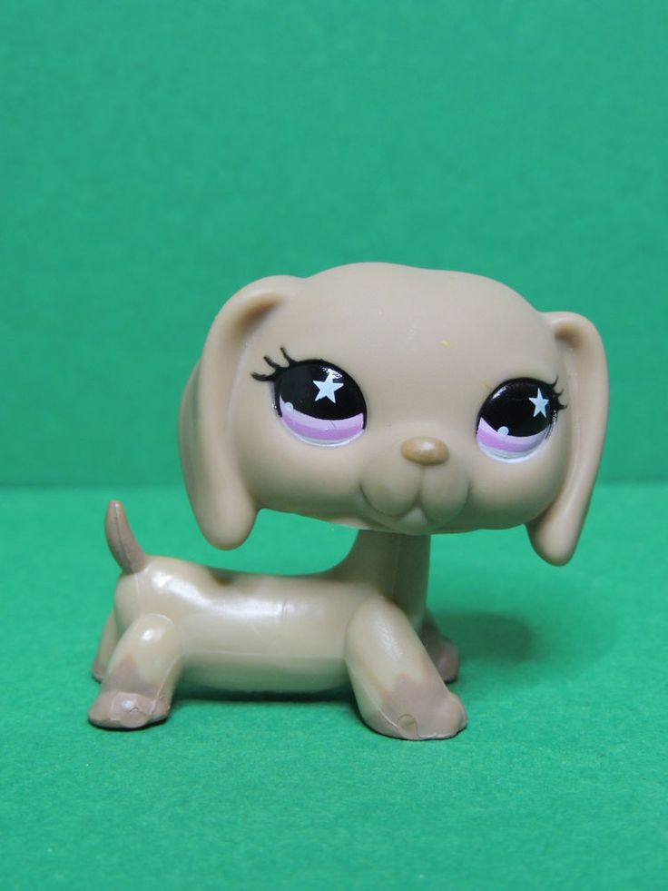 #932 chien Teckel Basset Caramel dachshund dog LPS Littlest Pet Shop Figure