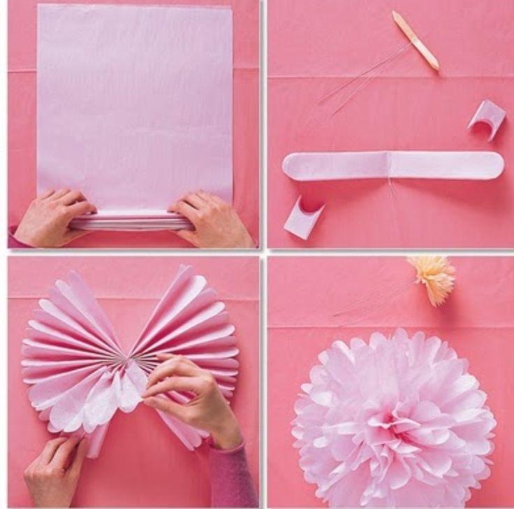 How To Make Paper Pom Poms: Wedding decor
