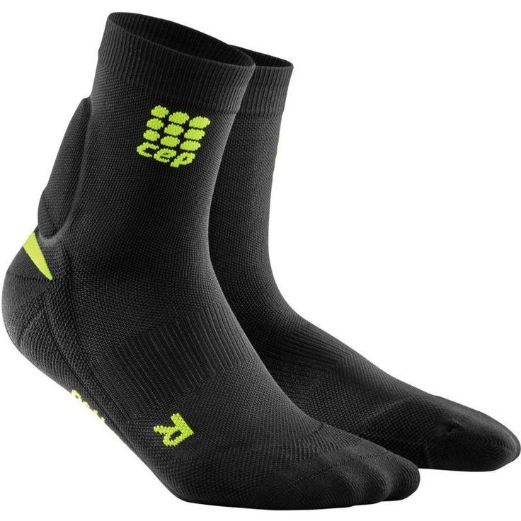 CEP Men's Achilles Support Compression Short Socks, Black