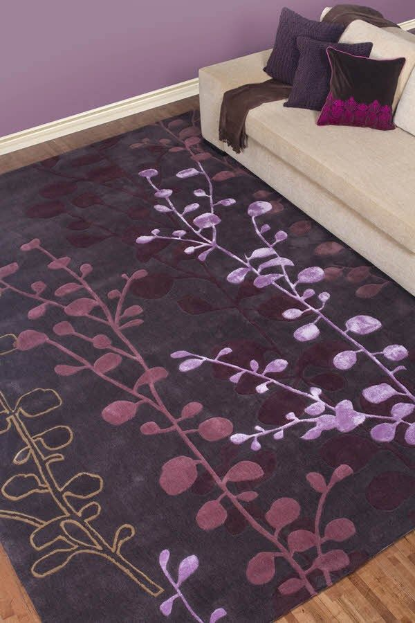 Beautiful Purple Area rug For Large Living Room