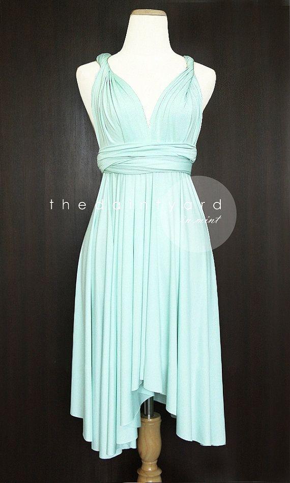 Mint Bridesmaid Convertible Dress Infinity Dress by thedaintyard