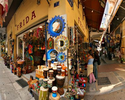 Plaka in Athens, the city's oldest neighbourhood.