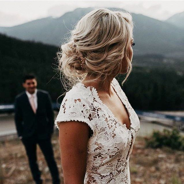Watching him, watching her. *swoon*  The Wilshire gown on real bride Ayla, shot by Erin Fraser Photography