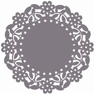 Silhouette Online Store: doily floral