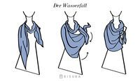 Ein Tuch unzählige Möglichkeiten - und so gehts - Wasserfall, falscher Knoten, Twister und die magische Schlaufe