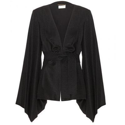 Wish i had all the mone for this Saint Laurent - Silk jacquard kimono-style top #top #women #covetme #saintlaurent