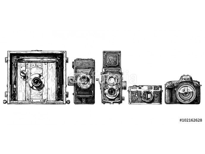 photo cameras evolution set. 64238