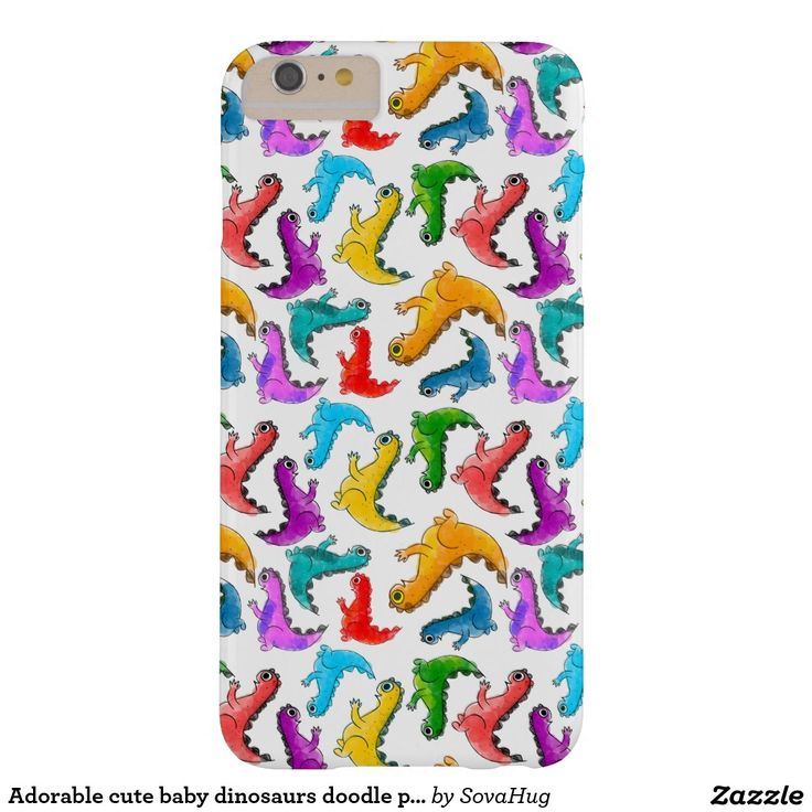 Adorable cute baby dinosaurs doodle picture design barely there iPhone 6 plus case, kid's gift ideaa