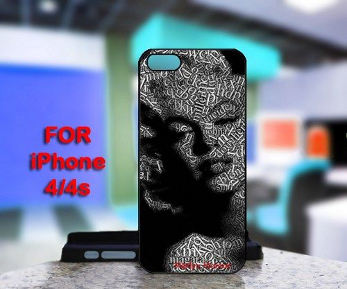 Marilyn Monroe Portraits Written For IPhone 4 or 4S Black Case Cover