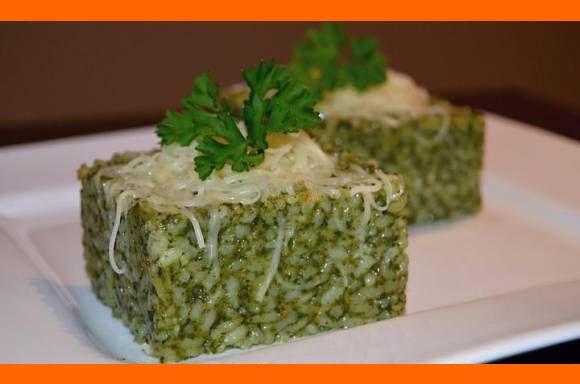 špenátové rizoto so syrom a cesnakom