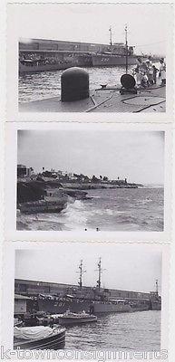US MILITARY BATTLESHIPS & SUBMARINES VINTAGE 1950s SNAPSHOT PHOTOGRAPHS