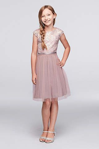 Junior & Girls Bridesmaid Dresses | David's Bridal (ONLY in Blush)