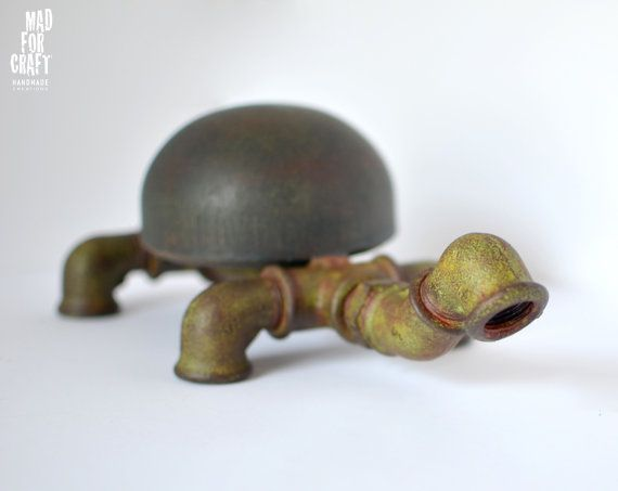 Iron Turtle Industrial Design Decorative Item by MadForCraftGR