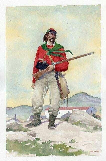 Garibaldini 1860, by Enrique Breccia.