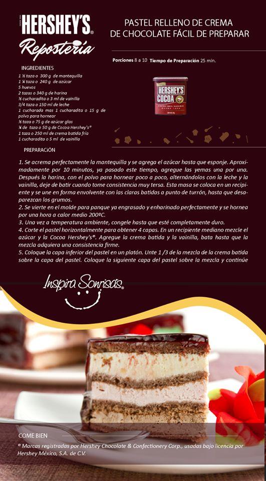 Después de engrasar y enharinar el molde de tu pastel, refrigéralo por unos minutos para que se fijen y tengas un mejor resultado. #Chocolate #Hersheys #Receta #Tip #InspiraSonrisas #DIY #Repostería #Idea #Cocina #Bakery #Cook