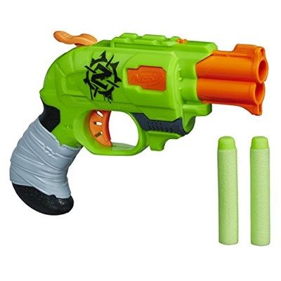 Chollo en Amazon España: Pistola Nerf Zombie Strike Doublestrike Blaster por solo 10,80€ (un 34% de descuento del precio anterior y precio mínimo histórico)