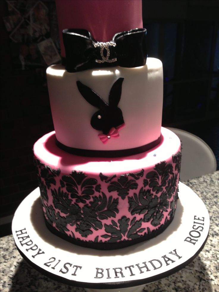 Playboy Cake Design : Playboy bunny cake #myperfectparty This is gunna be 21st ...